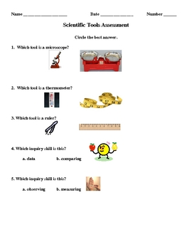 3rd Grade Scientific Tools Below Grade Level Quiz & Answer Key