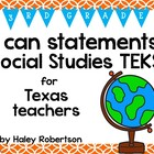"3rd Grade Social Studies ""I can"" statements- Circle patter"