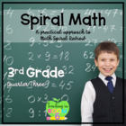 3rd Grade Spiral Math Homework and Quizzes -- Quarter THREE
