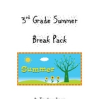 3rd Grade Summer Break / Vacation Pack