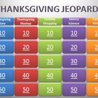 3rd Grade Thanksgiving Jeopardy Review