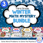3rd Grade WINTER Math Mysteries 4 Pack - Now a Download!