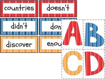 3rd Grade Word Wall Kit