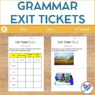 3rd grade CCSS L.1: Conventions of Grammar:Exit Tickets, I