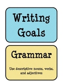 3rd grade Writing Goals sign