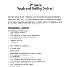 3rd grade spelling contract activities