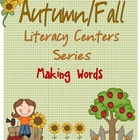 3x Making Words Fall themed - student and pocket chart versions