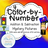 Color-by-Number Addition and Subtraction Mystery Pictures (4)