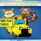 Classroom Energizers and Activity Breaks - 6 Free Flip Cards