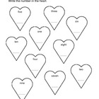 4 Kindergarten Valentine's Day Worksheets