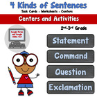 4 Kinds of Sentences- Lesson and Activities
