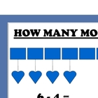 4 Math Posters: Addition/Subtraction/How Many More/Between