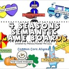 4 Seasons Semantic Game Boards           ***Special Promotion***