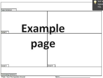 4 Square Graphic Organizer