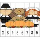 4 Thanksgiving Number Order Puzzles {FREEBIE}