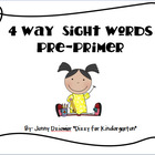 4 Way Sight Words - Pre-Primer