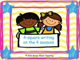 4-square writing on the 4 seasons