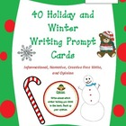 40 Common Core winter and holiday themed writing prompts