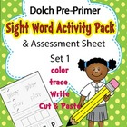 Sight Word Dolch Pre Primer Work On Words Multi Sensory Ce