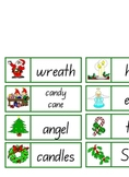 40 x Christmas Domino Cards - 5 pages Literacy Centre Activity