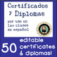 42 Certificados & Diplomas for your Spanish Students - Mot