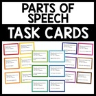 42 Parts of Speech Task Cards - Nouns, Adjective, Verbs -