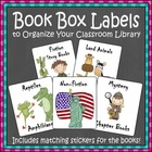 44 Book Box Labels (with matching sticker for books)