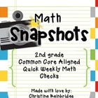 45 2nd Grade Math Snapshots- Weekly Assessments CCSS Aligned