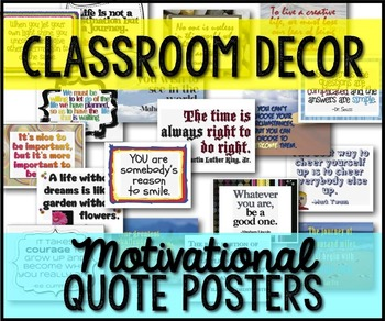 Classroom Signs/Posters Quotes, Character Ed, Sports {63 B/W & Color}