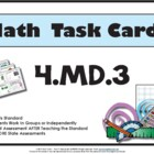 4.MD.3 - Math Task Cards 4.MD.3 Common Core Aligned