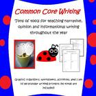 Common core writing through the year essentials pack