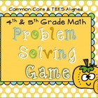 4th Grade Review Math Game (Problem Solving) TEKS and CCSS