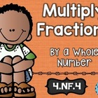 4th Gr Common Core NF.4: Multiplying Fractions: Math Tasks