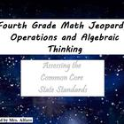 4th Grade CCSS Math Jeopardy Game/Flipchart PATTERNS; WORD
