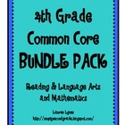 4th Grade Common Core BUNDLE {Reading & Language Arts; Mat