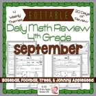 4th Grade Common Core Daily Math Review/Morning Work- September
