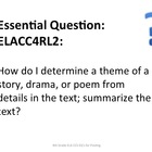 4th Grade Common Core ELA Essential Questions for Posting