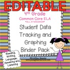 4th Grade Common Core: ELA {Student Data Tracking Binder P