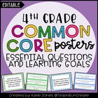 4th Grade Common Core {Essential Questions & Learning Goal