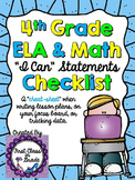 "4th Grade Common Core ""I Can"" Checklist (Ink Saver)"