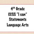 4th Grade Common Core I Can Statements {Pink & Brown Polka