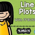 4th Grade Common Core MD.4: Line Plots:  Math Tasks, Exit