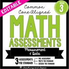 4th Grade Common Core Math Assessment - Measurement and Da