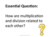 4th Grade Common Core Math Essential Questions for Posting