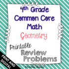 4th Grade Common Core Math Homework Printables Geometry