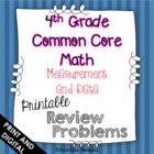 4th Grade Common Core Math Homework Printables Measurement