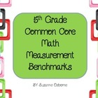 4th Grade Common Core Math Measurement Benchmarks