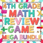 4th Grade Common Core Math Review Game Mega Bundle (All Do