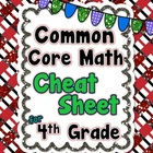 4th Grade Common Core Math Standards CHEAT SHEET (ALL stan