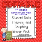 4th Grade Common Core Math {Student Data Tracking Binder P